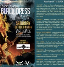 Raven's ROCK YOUR LITTLE BLACK DRESS Party