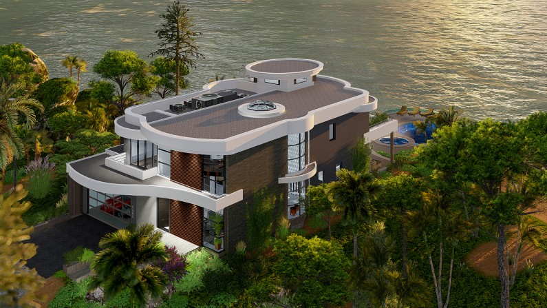 Modern Tropical Luxury Cliff Villa Architectural Design