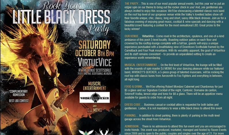 Raven's ROCK YOUR LITTLE BLACK DRESS Party