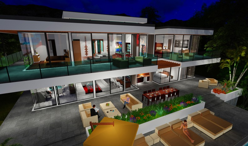 Next Generation Living Homes presents our Two Story Modern Glass Home Design