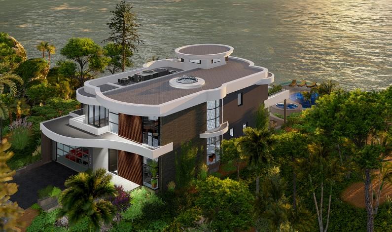 Modern Tropical Luxury Cliff Villa Architectural Design